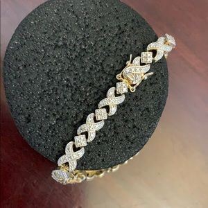 Bracelet gold and silver plated sterling 925 💞